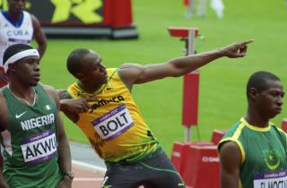 Usian Bolt's Soccer Club Signing Stunt